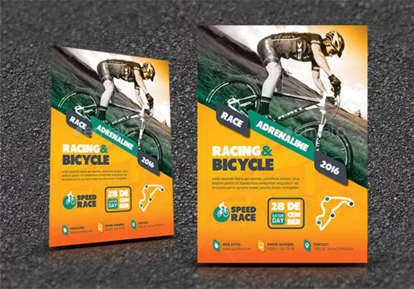 Bicycle Racing Flyer Templates PSD
