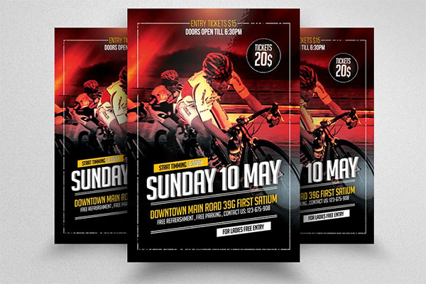 Bicycle Racing Flyer Templates
