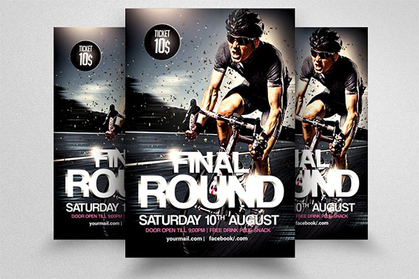 Bicycle Racing PSD Flyer Template