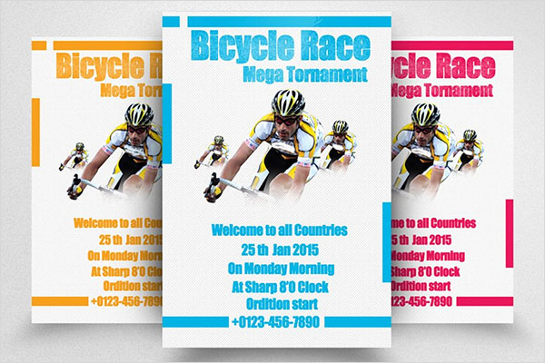 Bicycle Racing Print Flyer Template