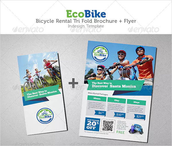 Bicycle Rental Trifold Brochure and Flyer