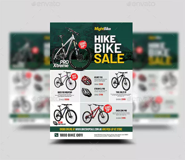 Bicycle Sale Flyer Template