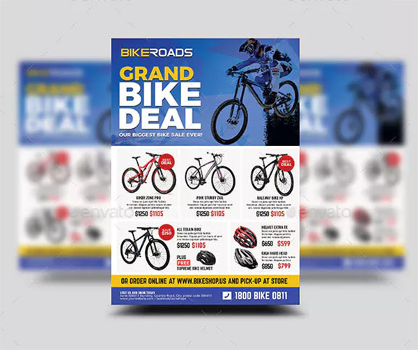 Bicycle Sale Promo Flyer Template