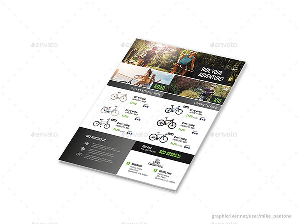 Bicycle Shop Flyers Template