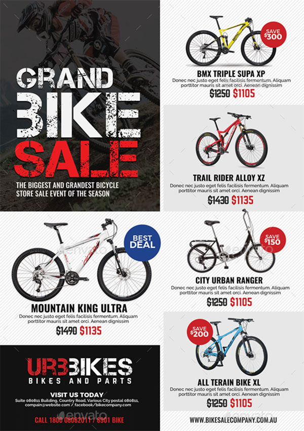 Bicycle Shop Promo Flyer Template