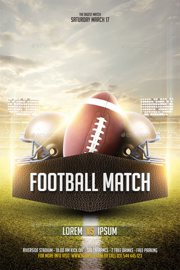 Big Match Football Flyer