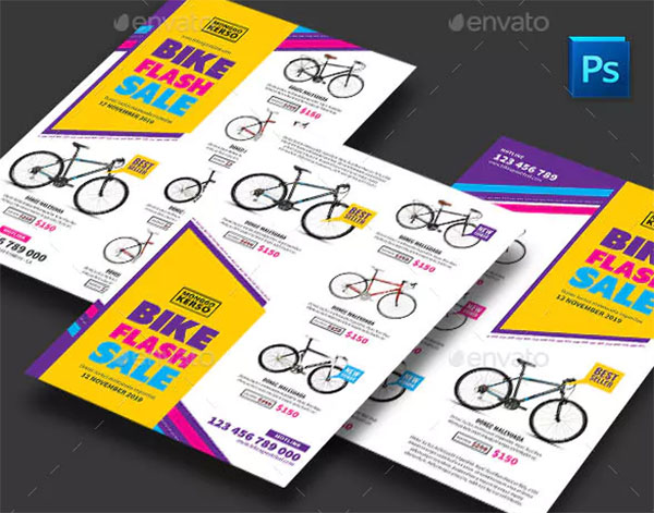 Bike Sale Flyers Template