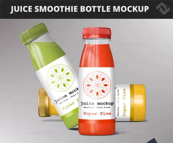 Bottle Smoothie Juice Beverage Mockup