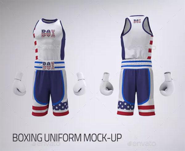 Boxing Uniform Tank Top or Vest Mock-Up