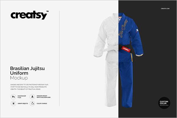 Brasilian Jiu Jitsu Uniform Mockup