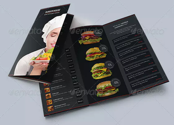 Burger House Brochure Tri-Fold Template