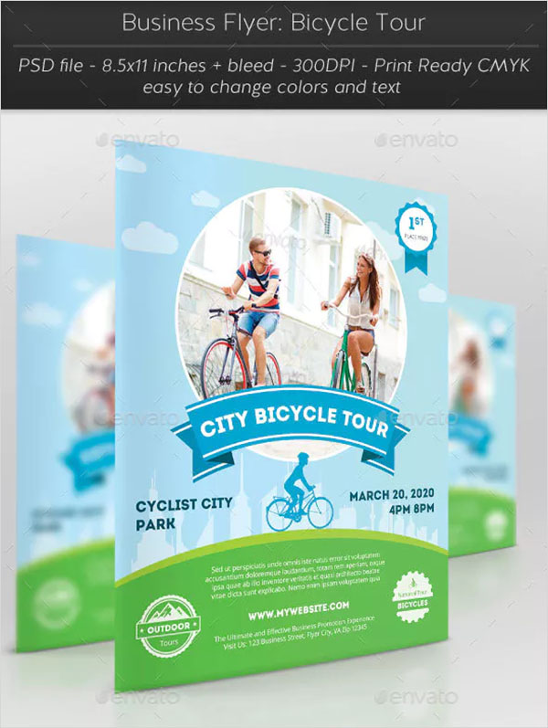 Business Bicycle Tour Flyer Template