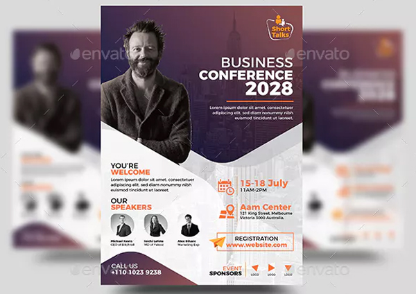 Business Conference Flyer Design Template