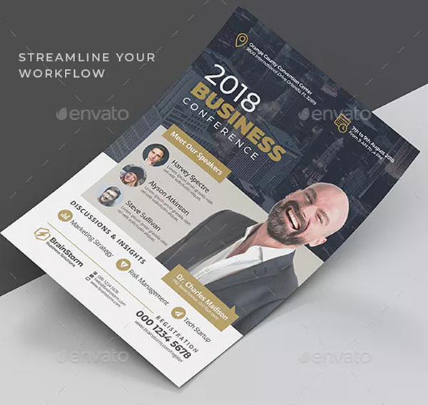 Business Conference Printable Flyer Template
