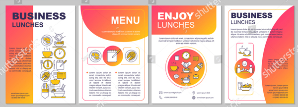 Business Lunch Brochure Template