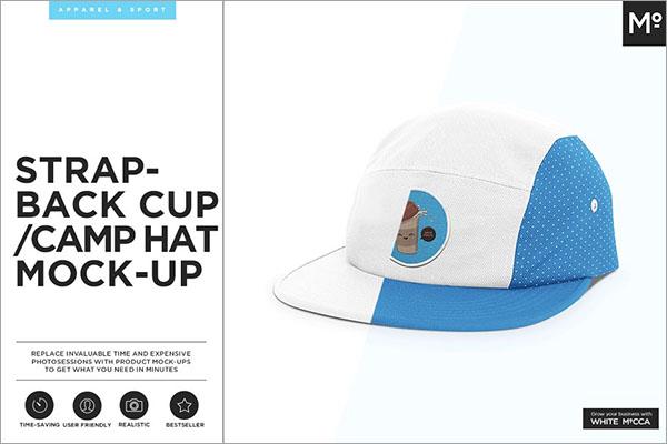 Camp Hat Mock-up
