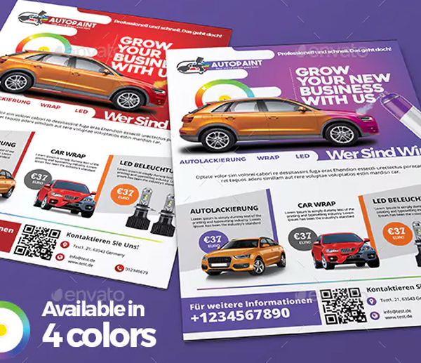 Car Paint Flyer Template