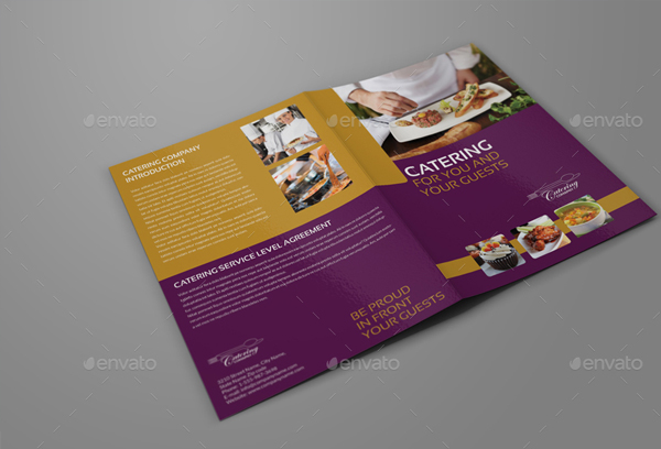 Catering Bi-Fold Brochure Template