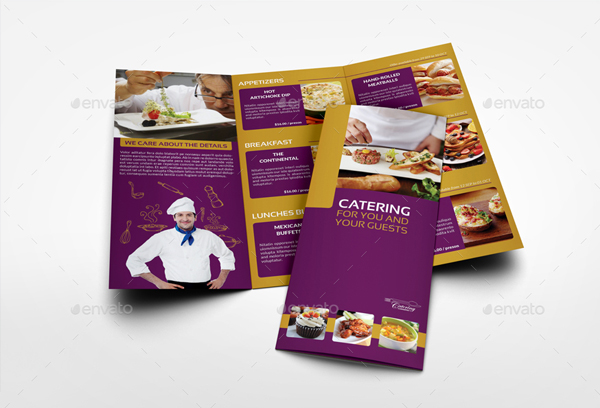 Catering Tri-Fold Brochure Template