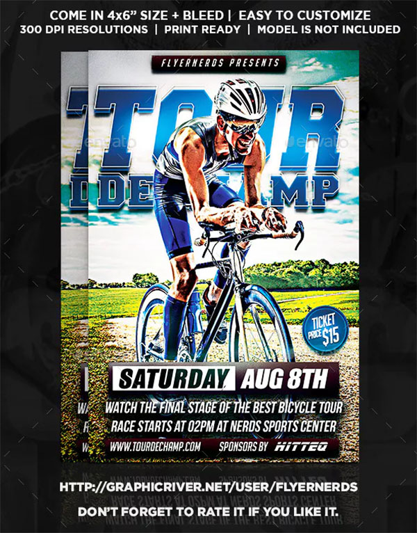 Champ Bicyle Championships Sports Flyer
