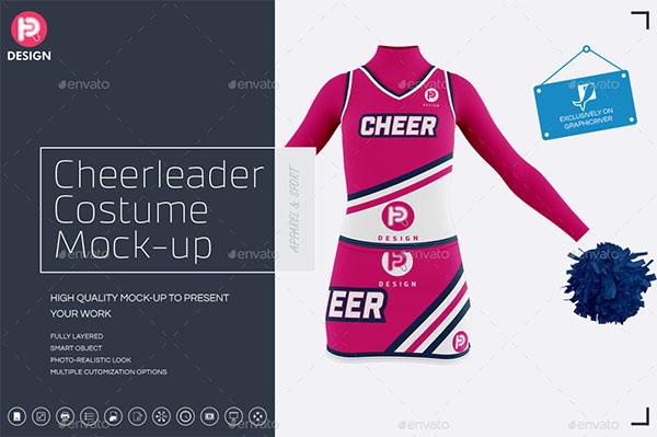 Cheerleader Costume Mock-Up