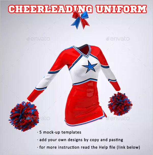 Cheerleading Uniform Mockup