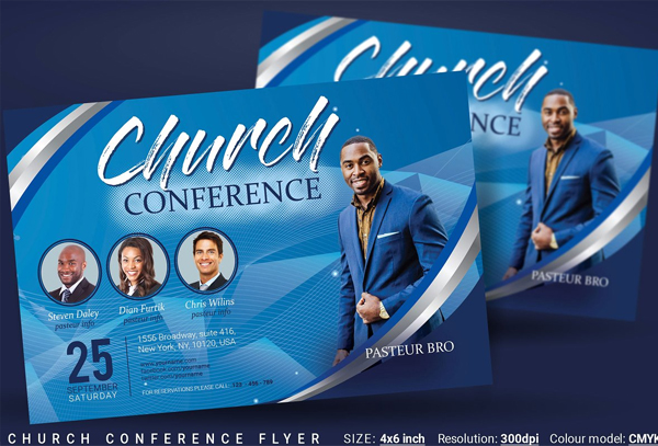 Church Conference Flyer Editable Template