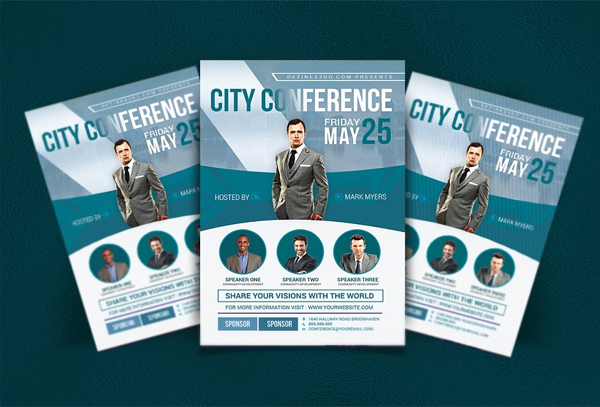City Conference Business Flyer Template