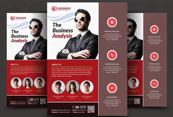Clean & Creative Lawyer Firm Business Flyer Template