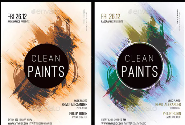 Clean Paints Party Flyer Template
