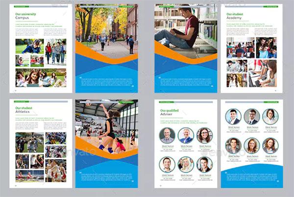 College University Brochure Templates