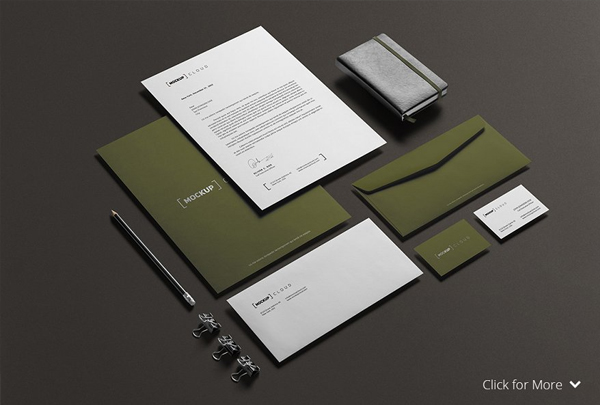 Corporate Stationery Shadow Mock-Up