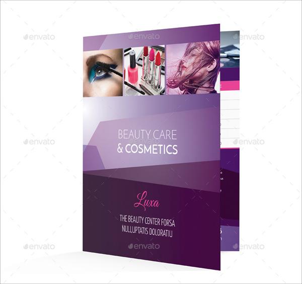 Cosmetics Bifold or Halffold Brochure