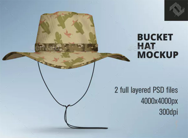 Creative Bucket Hat Mockup