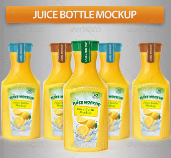Creative Juice Bottle Mockup