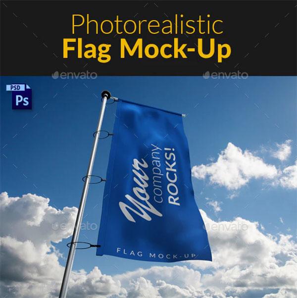 Creative Photorealistic Flag MockUp