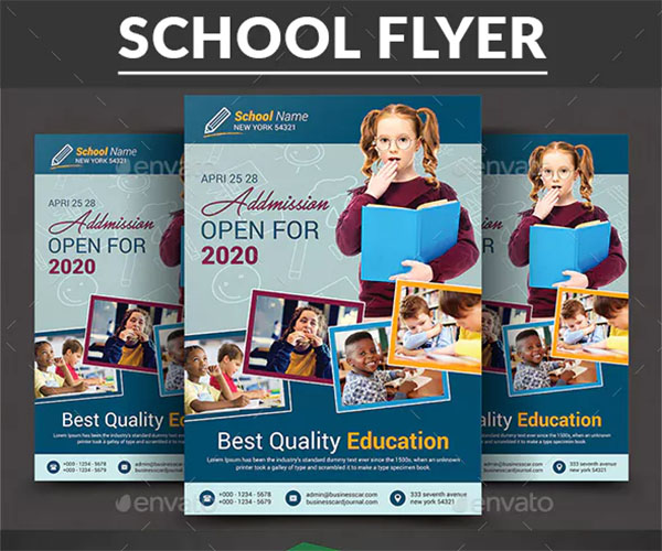 Creative School Education PSD Flyer
