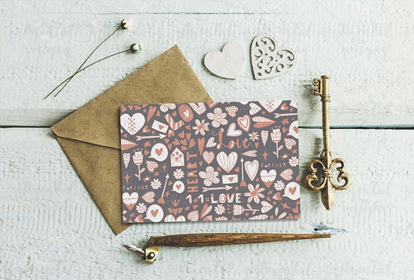 Cute Mockup with Hearts