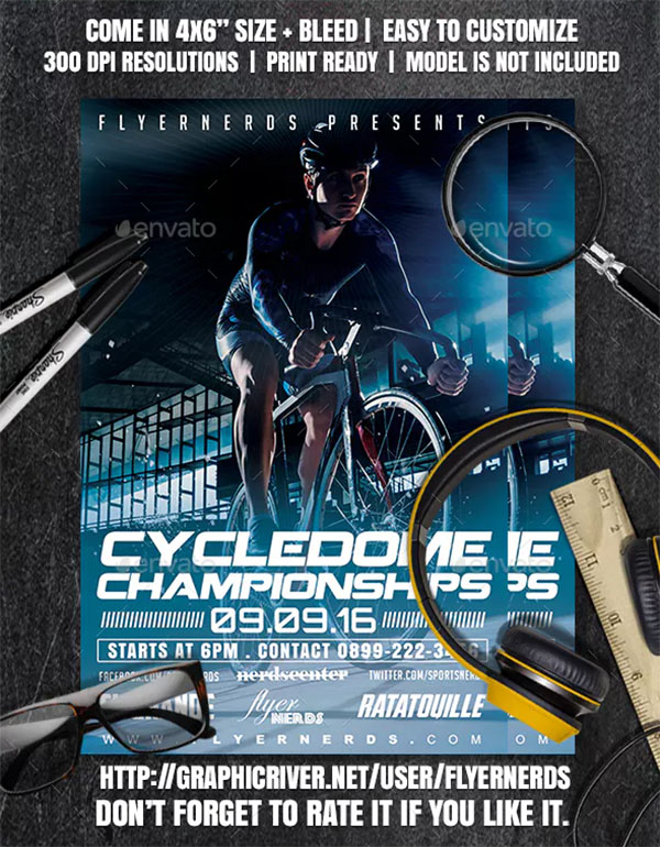 Cycledome Championships Sports Flyer