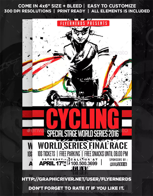 Cycling Championships Sports Flyer