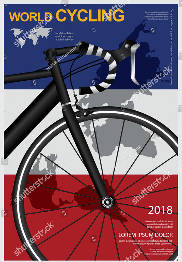 Cycling Vector Flyer Template