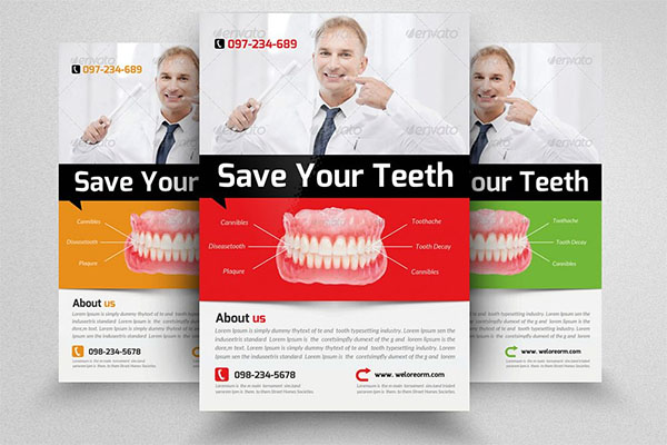 Dentist Medical Flyer Template