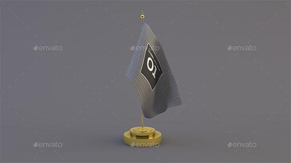 Desk flag Mockups