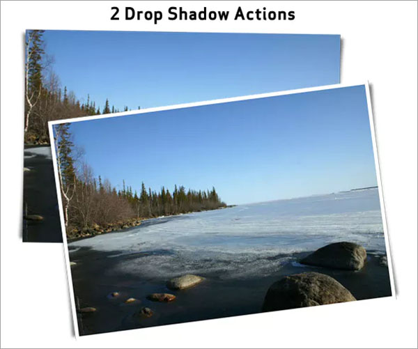 Drop Shadow PSD Action