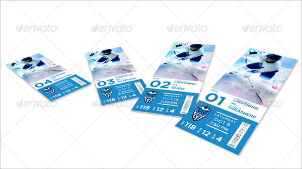 Dynamic Football Event Ticket Templates