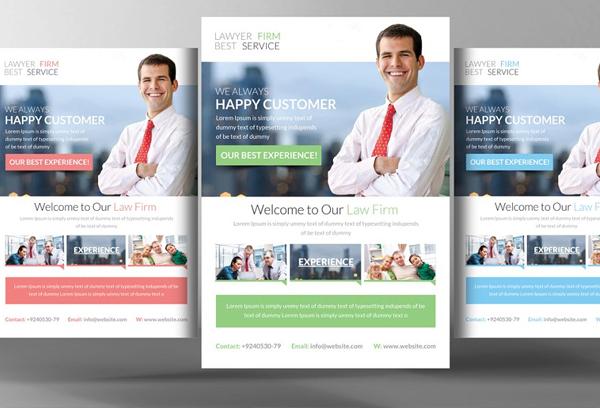 Editable Lawyer Firm Flyer