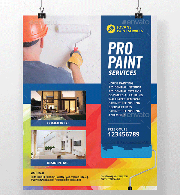 Editable Paint Services Flyer