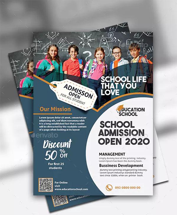 Education Flyer PSD Design