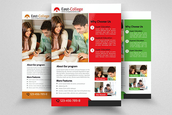 Education Flyer PSD Template