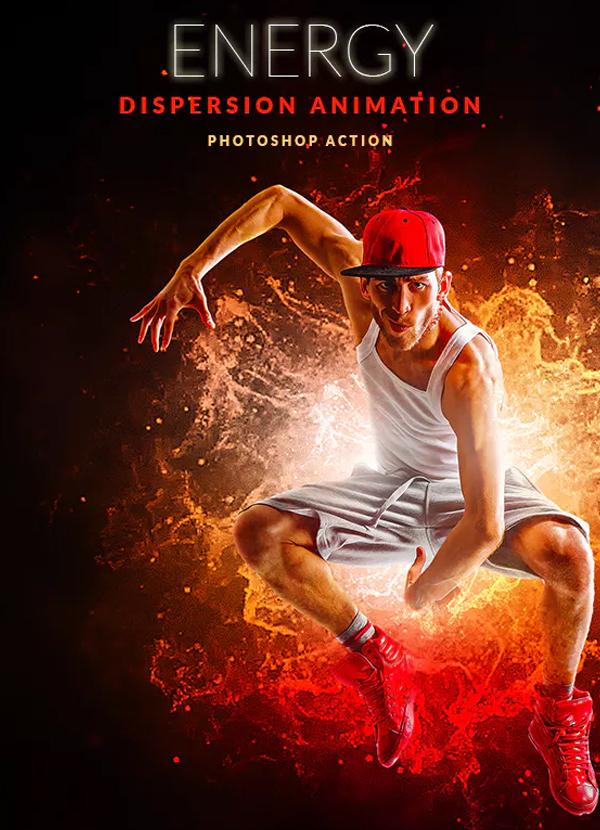Energy Dispersion Animation Photoshop Action